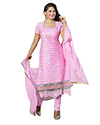 YOUR STYLE VOL.3 LIGHT PINK EMBRODERY WORK MATERIAL BY BALKRISHNA FABRICS