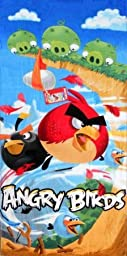 Angry Birds Beach Towel ~ Can Be Used for the Bath