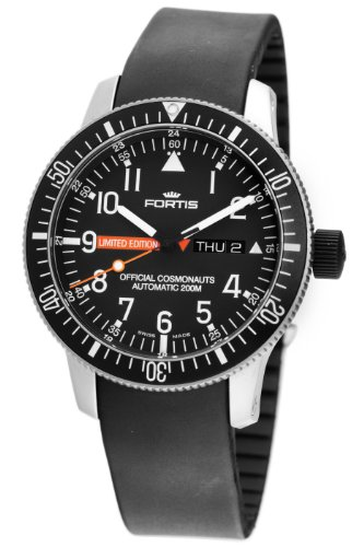 Fortis Men's 658.27.81K B-42 Official Cosmonauts Automatic Black Dial Watch