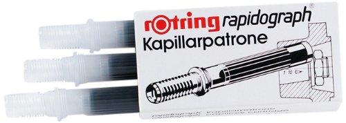 Etui de 3 cartouches pour RAPIDOGRAPH encre bleue ROTRING
