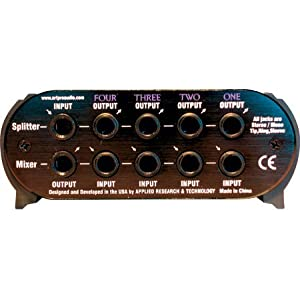 ART SPLITMix4 Passive SplitterMixer 4 Stereo Input CH Passive Design Over 90dB of Attenuation
