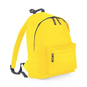 Plain 2 Pocket Backpack Rucksack School Bag Choose Your