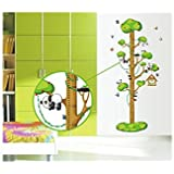 Decals Arts Children Height Panda Removable Wall Stickers