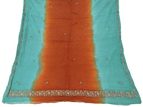 jahrgang-dupatta-lange-stola-reine-chiffon-silk-gestickte-orange-benutzte-veil-stola