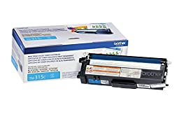 Brother TN315C Toner Cartridge for Brother Laser Printer - Retail Packaging - Cyan