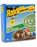 RAID OUTDOOR Spirales anti-moustiques x10