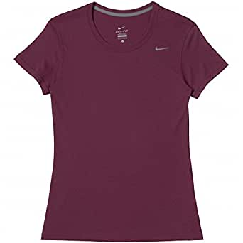 nike womens dri fit legend t shirt large maroon red at