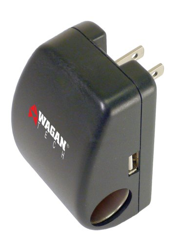Cell Phone/PDA Traveler's Adapter with USB