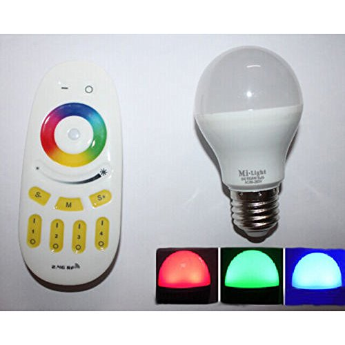 2.4G Wireless Rgbw E27 6W Led Bulb Light Lamp With 4-Zone Rf Remote For Shop Pub