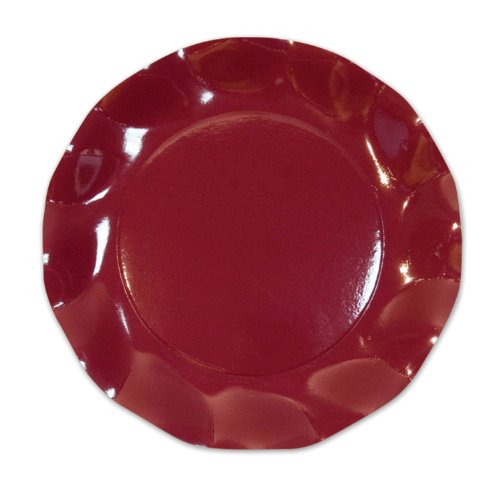 Burgundy Large Plates (10/Pkg)