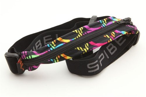SPIbelt SPIbelt Adult SPIbelt, Peace Signs Fabric/Black Zipper/Logo Band