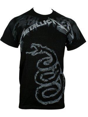 Metallica Black Album Faded T-Shirt black S