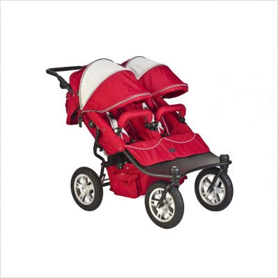 Tri Mode EX Twin Stroller Set in Candy Apple Color: Hot Chocolate