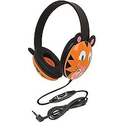 Califone 2810-TI Kids Stereo and PC Headphones Tiger Design