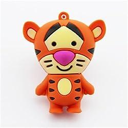 32GB 32G Cartoon Animal Tiger Shape Gift USB Flash Drive USB Flash Disk Pen Drive Memory Stick Pendrive