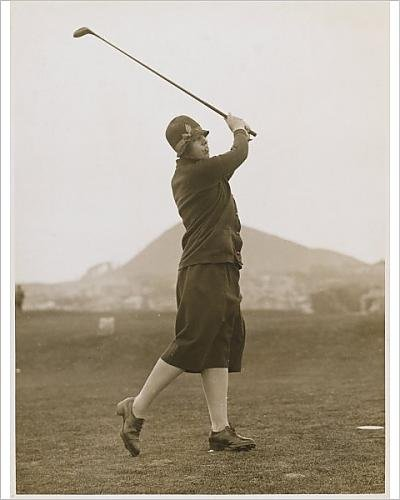 Photographic Print Of M. Pease Golfing 1927