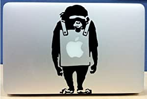 Banksy - Monkey With Sign - Vinyl Macbook / Laptop Decal Sticker Graphic