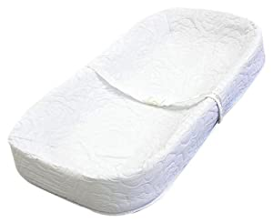 "LA Baby 4 Sided Changing Pad 32"", White"