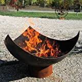 37 Inch King Isosceles Handcrafted Modern Steel FireBowl