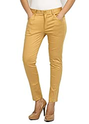 Fbbic Womens Slim Pants (16024_Large_Beige)