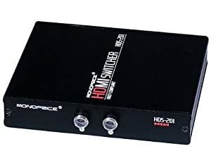 Monoprice 102786 2X1 Manual HDMI Switch-Push Button Type