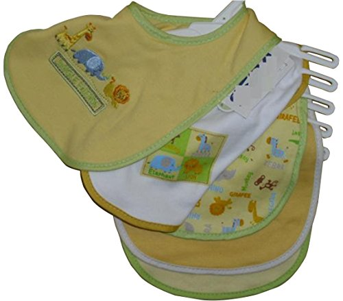 5pk Velcro Closure Bib Little Beginning Infant Bib Jungle Friends little friends flashcards набор из 21 карточки