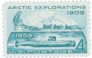 #1128 - 1959 4c Arctic Explorations Postage Stamp Numbered Plate Block (4)
