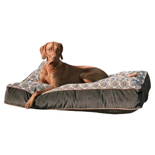 Bowsers Super-Loft Rectangle Dog Bed Size-Color - XX-Large - Cedar Lattice / Acorn