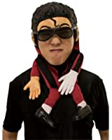 Pop Star Topper half face mask - diddy Michael Jackson-type adult fancy dress