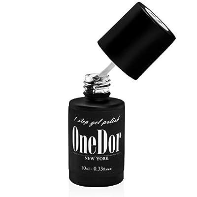 OneDor® One Step Gel Polish UV Led Cured Nail Polish No Base or Top Coat Nail Need
