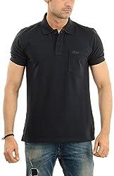 Lead & Ride Men's Polo Neck T-Shirt (101 black_x-large, Black, X-Large)