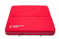 AdventureWorx Softland Crash Mat for Rock Climbing/Bouldering With Max Fall Force Absorption (Red)