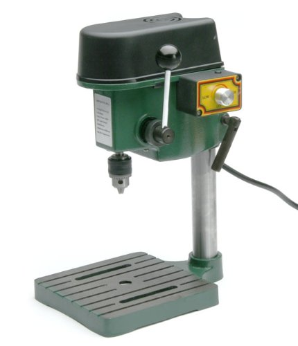 TruePower 1/4″ Mini Drill Press with 3 Range Variable Speed Control 0-8500 Rpm image