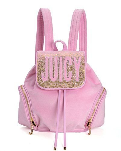 Juicy Couture Pretty in Paradise Velour Backpack (Soft Hush) (Juicy Couture Side Bag compare prices)