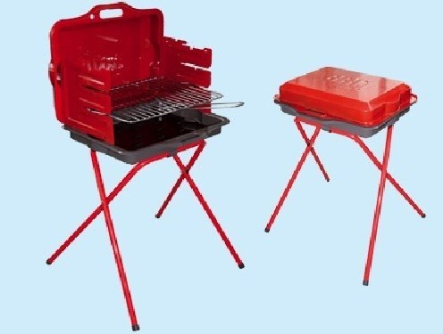 BARBECUE GRILL CHEF RED VALIGETTA GRIGLIA CM. 45 X 35.