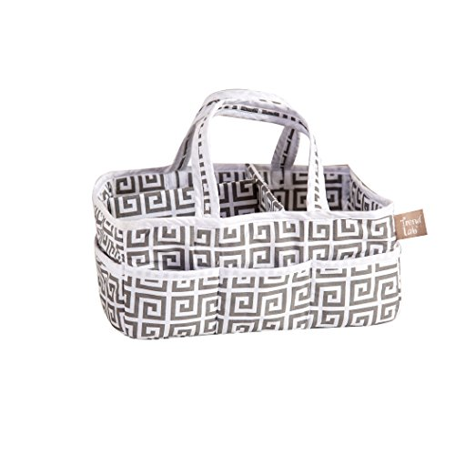 Trend Lab Gray Greek Key Storage Caddy