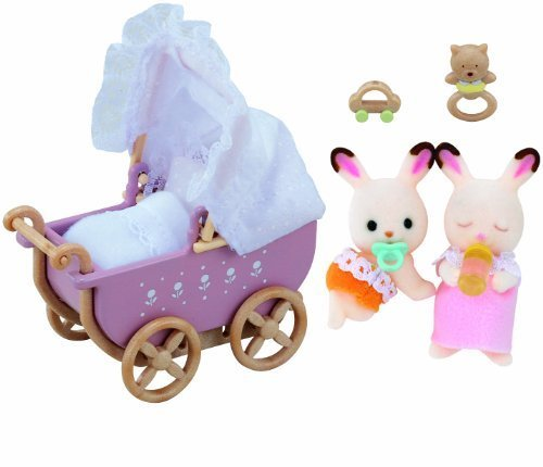 Sylvanian Families 2206 Chocolate Rabbit Twins Set (Without Mother) by Epoch