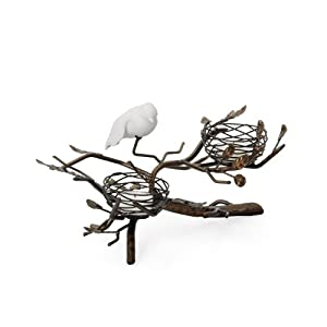 Torre and Tagus 900507 Bird Nest 2-Cup Tealight Holder, Wide