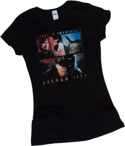 Escape Is Impossible -- Batman Arkham City Crop Sleeve Fitted Juniors T-Shirt