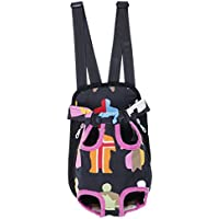 Imported Pet Dog Cat Nylon Carrier Backpack Front Tote Carrier Net Bag Hot Pink S