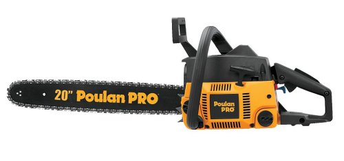 Poulan Pro PP4620AVX 20-Inch 46cc 2-Cycle Gas-Powered Anti-Vibration Chain Saw with Case