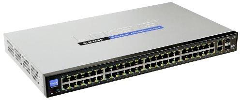 Cisco Small Business Smart Switch SLM248G - Commutateur - 48 ports - Ethernet, Fast Ethernet - 10Base-T, 100Base-TX + 2x