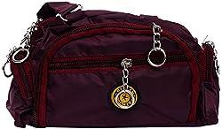 Zakina Women's Handbag (Maroon) (ZE121)