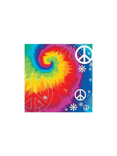 Creative Converting Unisex Adult Tie Dye Fun Lunch Napkins Black Medium