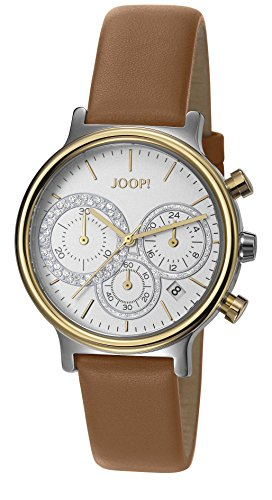 Joop. Orologio da polso da donna Golden Leather Cronografo quarzo pelle jp101502011