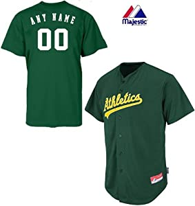 Oakland Athletics Full-Button CUSTOM or BLANK BACK Major League Baseball Cool-Base... by Majestic Authentic Sports Shop