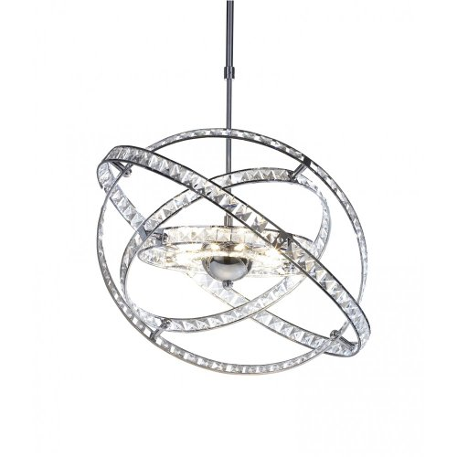 DAR ETERNITY ETE2350 10 LIGHT CHROME CRYSTAL PENDANT