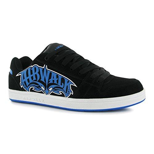 airwalk-triple-x-pour-homme-skate-chaussures-noir-bleu-casual-formateurs-sneakers-noir-bleu-uk10-eu4