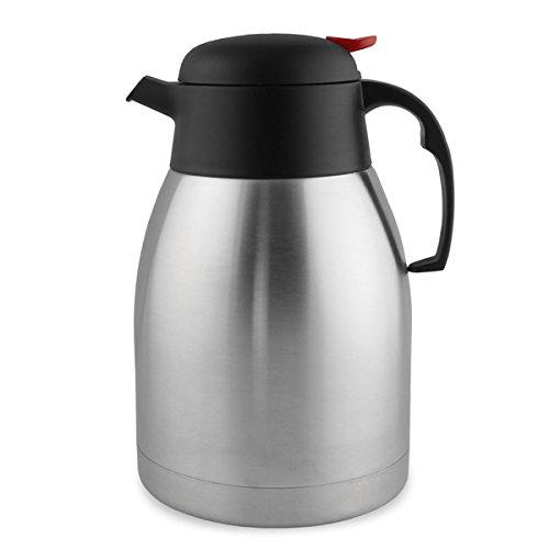 Pot à café en acier inoxydable à vide d'air 1,5 L Verre isolant thermique pour boissons chaudes Premium-Incassable