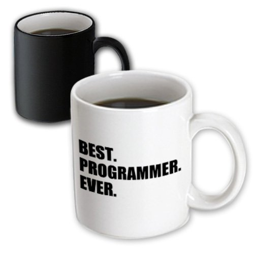 3dRose mug_185015_3 Best Programmer Ever, Fun Gift for Talented Computer Programming, Text Magic Transforming Mug, 11-Ounce